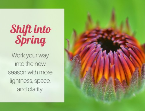 Shift into Spring #5 – De-clutter