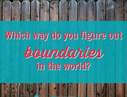 Which way do you figure out boundaries in the world?